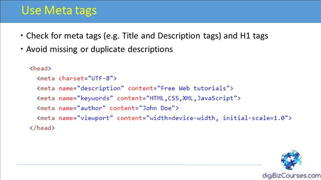 Use Meta tags