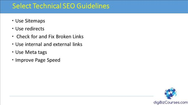 Select Technical SEO Guidelines