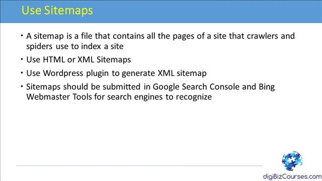 Use Sitemaps