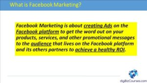 facebook marketing definition course